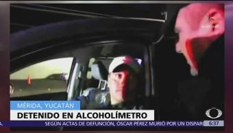 Alcoholímetro detiene a precandidato del PAN en Mérida
