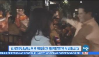 Alejandra Barrales Reunió Simpatizantes Milpa Alta
