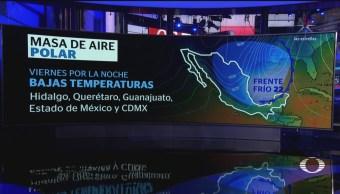 Alertan por ingreso de masa de aire polar en México