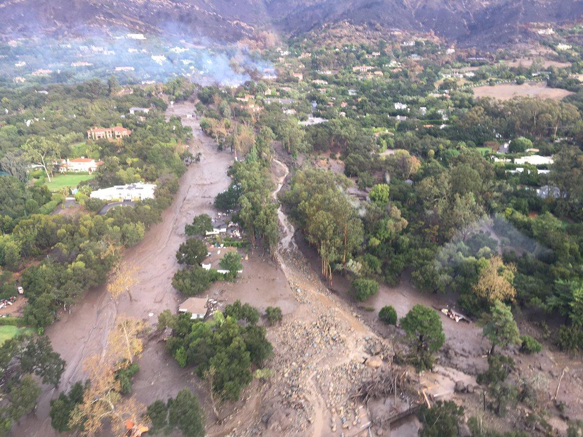 Al menos 5 muertos en California por deslaves
