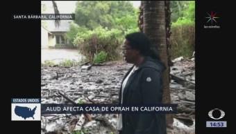 Aludes en California dañan casa de Oprah Winfrey
