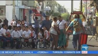 Alumnos Toman Clases Calles Oaxaca
