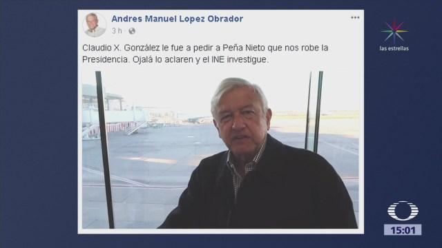 AMLO culpa a Claudio X González de guerra sucia