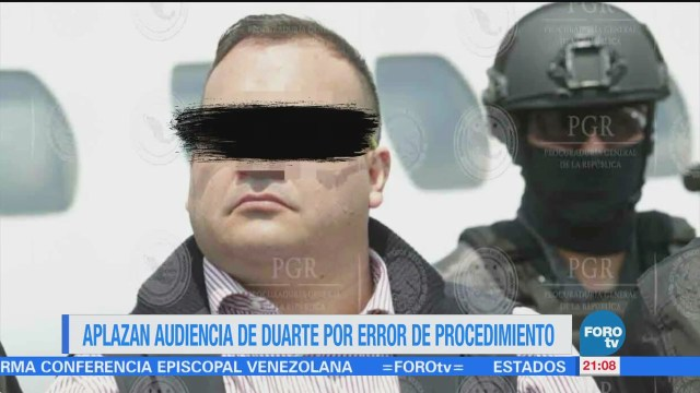 Aplazan audiencia de Javier Duarte por error de la PGR