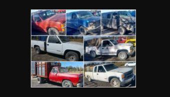 Aseguran en Puebla siete vehículos utilizados para el robo de hidrocarburo