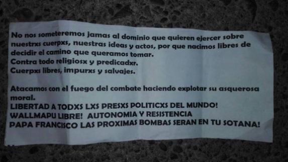 atacan iglesias en chile ante la llegada del papa francisco