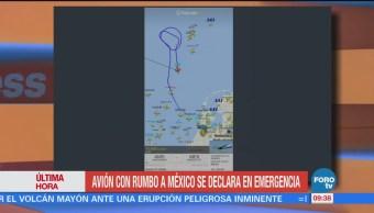 Avión con rumbo a México se declara en emergencia