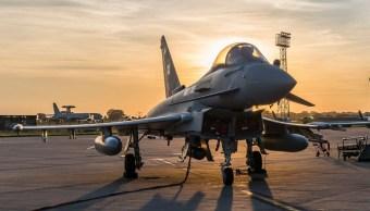 cazas de reino unido escoltan bombarderos rusos