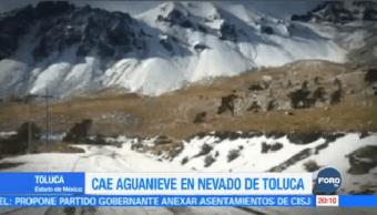 Cae Aguanieve Volcán Toluca Estado De México