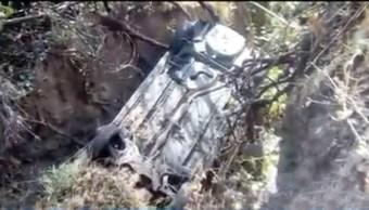 camioneta cae a una barranca en cuajimalpa