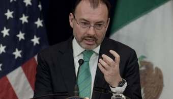 Canciller mexicano analiza agenda bilateral con funcionarios estadounidenses