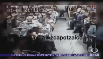 Captan en video asalto a camión de pasajeros en Azcapotzalco, CDMX