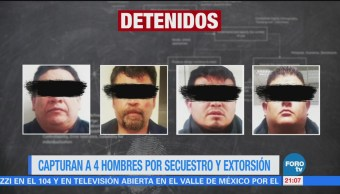 Capturan 4 Hombres Secuestro Extorsión Cdmx