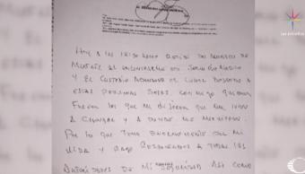 Alejandro Gutiérrez denuncia tortura en carta a la CNDH