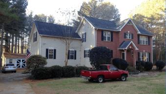 Casa en Carolina del Sur donde se registró violencia doméstica. (AP)