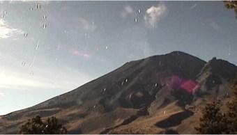 reportan 80 exhalaciones del volcan popocateptl