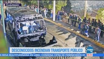 Chofer muere calcinado tras asalto en calles de la Gustavo A. Madero
