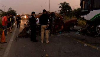 Choque carretero en Veracruz deja ocho muertos