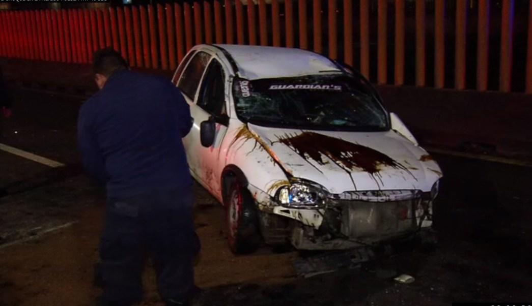 choque en la autopista mexico puebla deja un lesionado