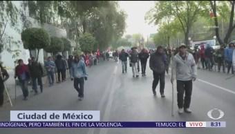 Cierran carriles centrales de Reforma, CDMX, por presencia de manifestantes