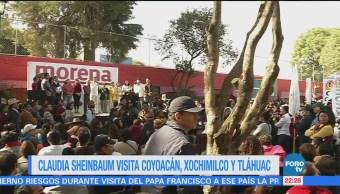 Claudia Sheinbaum Visita Coyoacán Xochimilco Tláhuac
