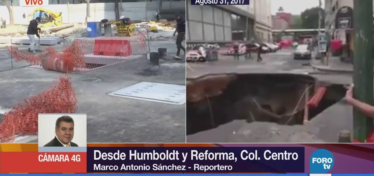 Concluye reparación de socavón en Humboldt