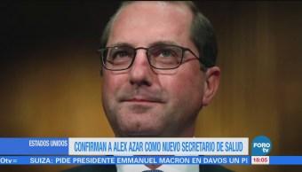 Confirman a Alex Azar como nuevo secretario de Salud de Estados Unidos