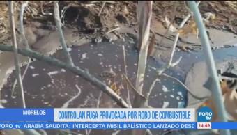 Controlan fuga por robo de combustible en Cuernavaca