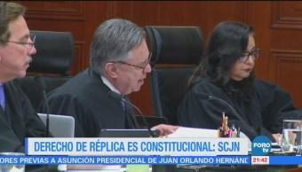 Derecho Réplica Constitucional Scjn