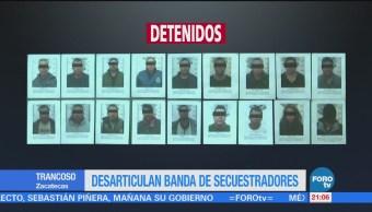 Desarticulan Banda Secuestradores Zacatecas