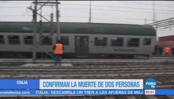 Descarrila tren cerca de Milán