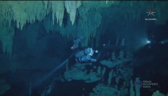 Descubren en Tulum la cueva inundada más grande del mundo