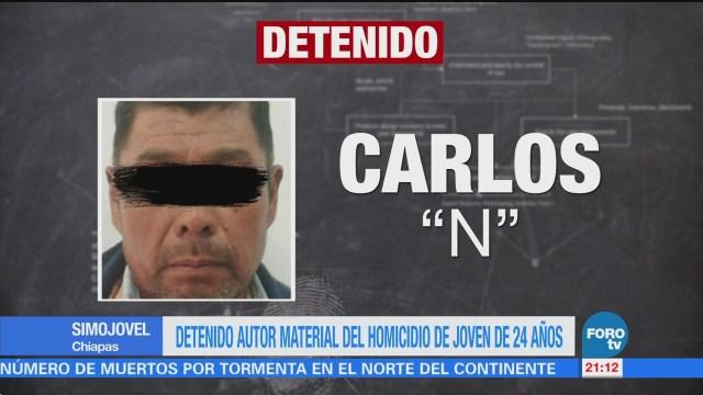 Detienen a autor material del homicidio de la joven Gloria Castellanos