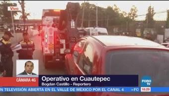 Detienen Taxi Pirata Durante Operativo Cuautepec