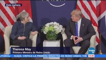 Donald Trump llega a Davos para participar en el Foro Económico Mundial
