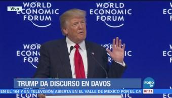 Donald Trump participa en el Foro Económico Mundial en Davos