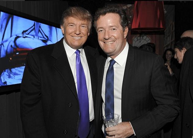 Donald Trump y el periodista británico Piers Morgan