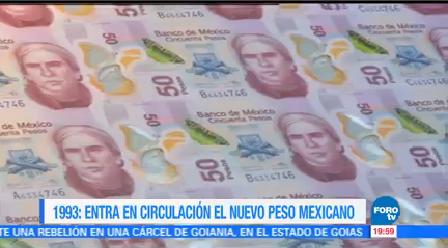 Efeméride Una Hora Nuevos Pesos Mexicanos Euro