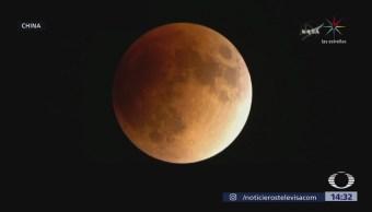 El mundo observó la 'súper luna azul de sangre'