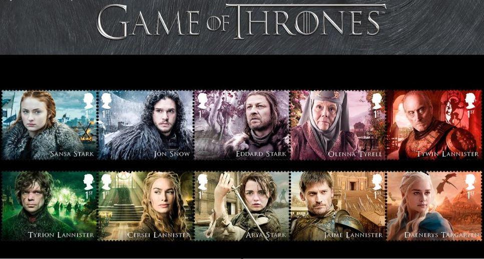 Reino Unido venderá sellos de 'Game of Thrones'