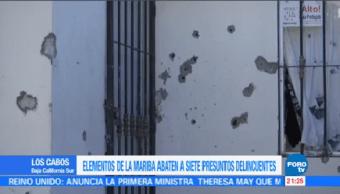 Elementos Marina Abaten Siete Presuntos Delincuentes Los Cabos