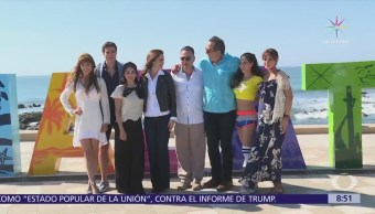Elenco de la telenovela 'Hijas de la luna' graba en Mazatlán, Sinaloa