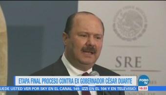 En etapa final, formulación de extradición de César Duarte: PGR