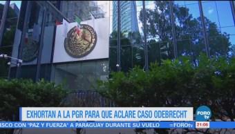 Exhortan a la PGR para que aclare caso Odebrecht