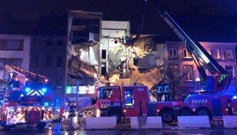 Explosión y derrumbe edificio Bélgica deja varios heridos