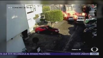 Explota tanque de gas dentro de unidad habitacional en la CDMX