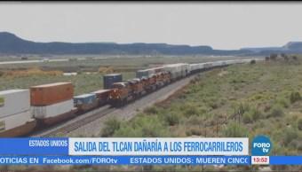 Ferrocarrileros estadounidenses advierten consecuencias de dejar el TLCAN