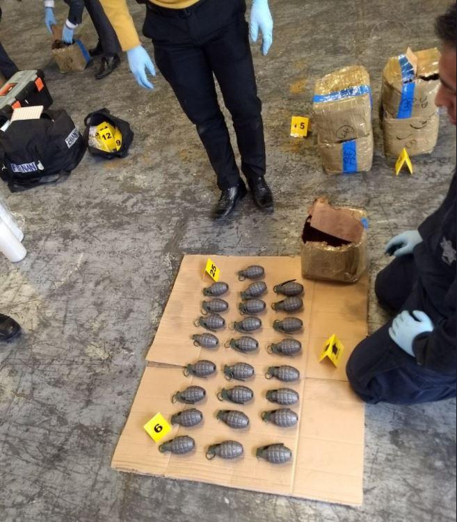 Aseguran 996 granadas en empresa de paquetería en la delegación Azcapotzalco