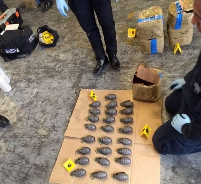 aseguran 996 granadas en la delegacion azcapotzalco