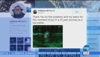 """Guillermo del Toro agradece nominaciones al Oscar por """"La forma del agua"""""""